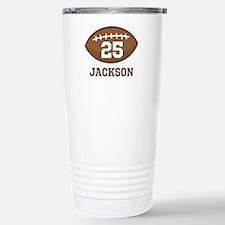 Personalized Football Player Travel Mug