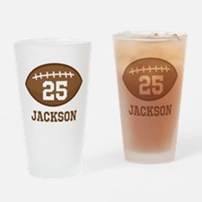 Personalized Football Player Drinking Glass
