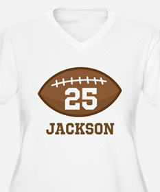 Personalized Football Player Plus Size T-Shirt