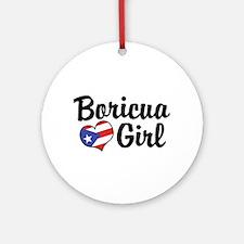 Boricua Girl Ornament (Round)