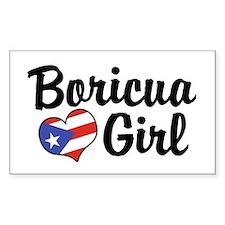 Boricua Girl Rectangle Decal