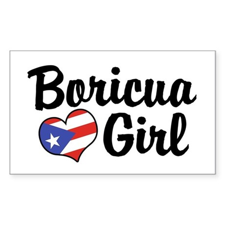 Boricua Girl Rectangle Sticker