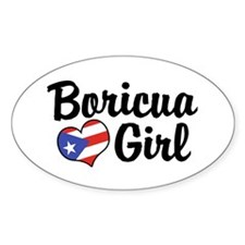 Boricua Girl Oval Decal