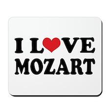I Love Mozart Mousepad