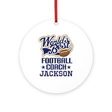 Football Coach (Worlds Best) custom Ornament (Roun