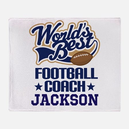 Football Coach (Worlds Best) custom Throw Blanket