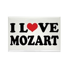 I Love Mozart Rectangle Magnet
