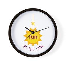 Fun in the Sun Wall Clock