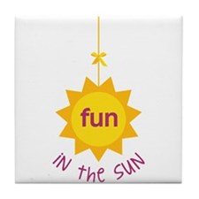 Fun in the Sun Tile Coaster