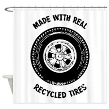 Made With Real Recycled Tires Shower Curtain
