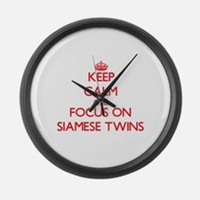 Unique Siamese twins Large Wall Clock