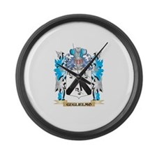 Cute Family crest Large Wall Clock
