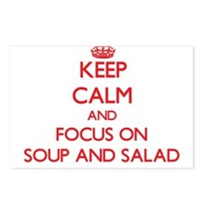 Cute Soups and salads Postcards (Package of 8)