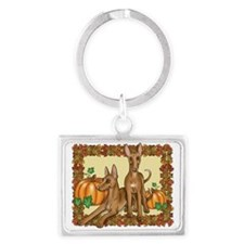 Autumn Pharaoh Hounds Landscape Keychain