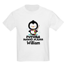 Personalized Hockey Player Penguin T-Shirt