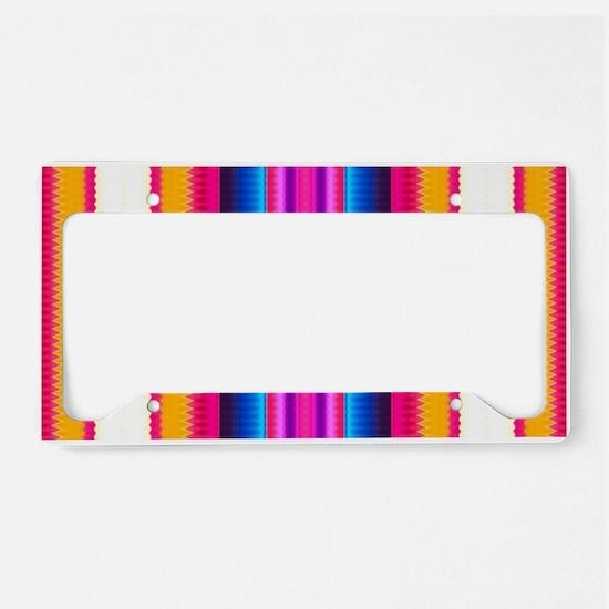 Aztec Geometric Tribal Patter License Plate Holder