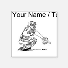 Custom Baseball Catcher Sticker