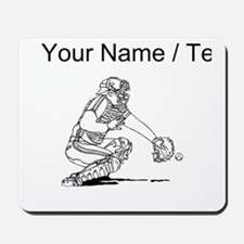 Custom Baseball Catcher Mousepad