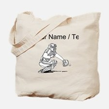 Custom Baseball Catcher Tote Bag