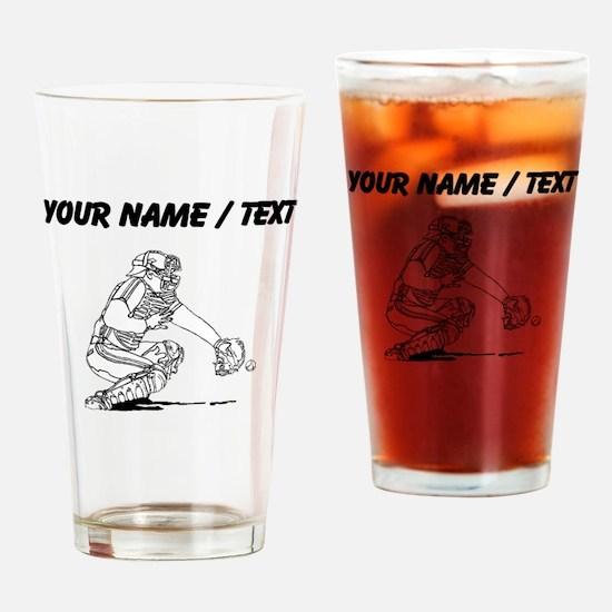 Custom Baseball Catcher Drinking Glass