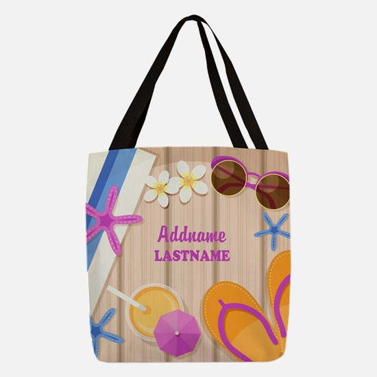 Personalized Summer Girly Polyester Tote Bag