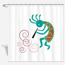 Dancing Flutist Shower Curtain