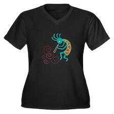 Dancing Flutist Plus Size T-Shirt