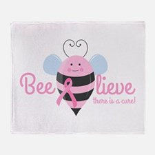 Beelieve In A Cure Throw Blanket