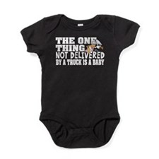 Baby Not Delivered Trucker Baby Bodysuit