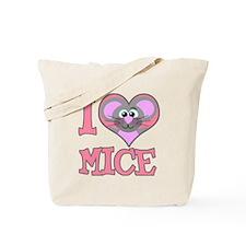 I Love (Heart) Mice Tote Bag