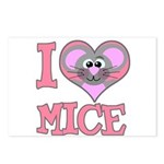 I Love (Heart) Mice Postcards (Package of 8)
