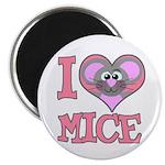 I Love (Heart) Mice Magnet