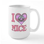 I Love (Heart) Mice Large Mug