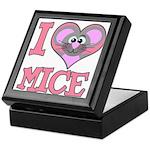 I Love (Heart) Mice Keepsake Box