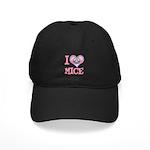 I Love (Heart) Mice Black Cap