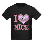 I Love (Heart) Mice Kids Dark T-Shirt