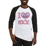 I Love (Heart) Mice Baseball Jersey