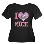 I Love (Heart) Mice Women's Plus Size Scoop Neck D