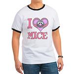 I Love (Heart) Mice Ringer T