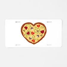 Pizza Heart Aluminum License Plate
