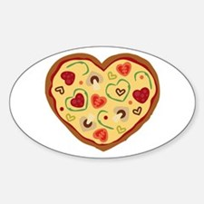 Pizza Heart Decal