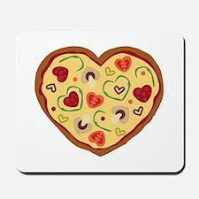 Pizza Heart Mousepad