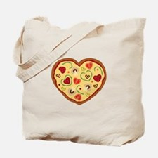 Pizza Heart Tote Bag