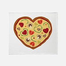 Pizza Heart Throw Blanket