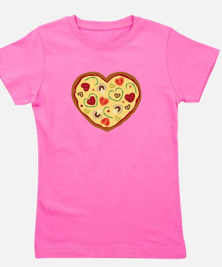 Pizza Heart Girl's Tee