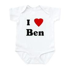 I Love Ben Infant Bodysuit