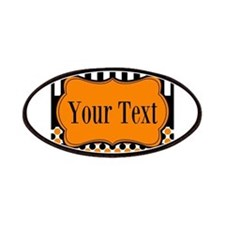 Personalizable Orange and Black Patches