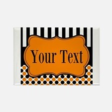 Personalizable Orange and Black Magnets