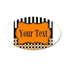 Personalizable Orange and Black Wall Decal