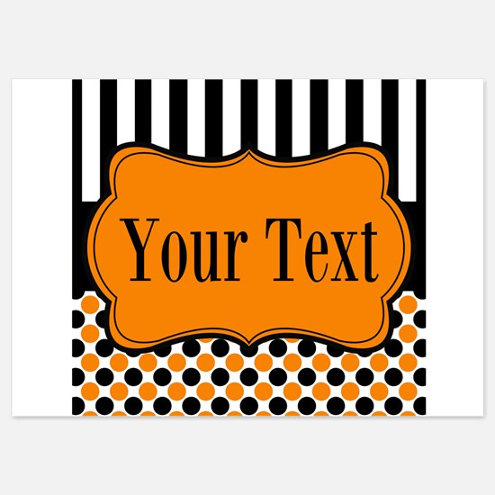 Personalizable Orange and Black Invitations